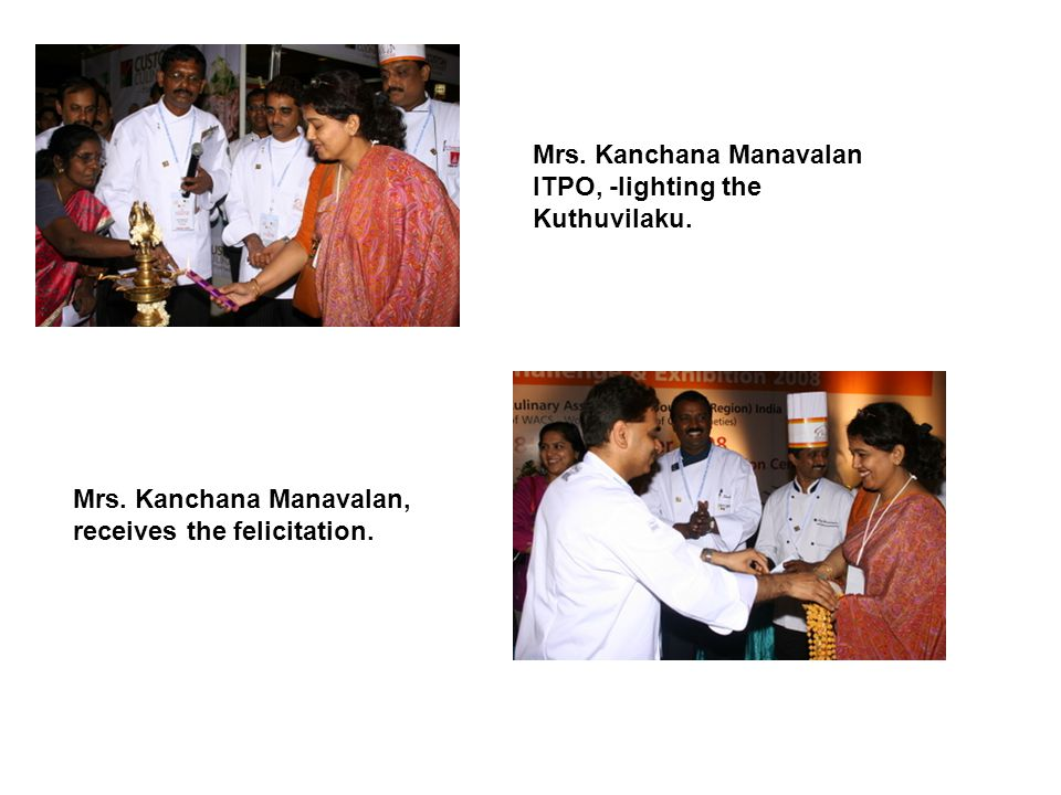 Mrs. Kanchana Manavalan ITPO, -lighting the Kuthuvilaku.