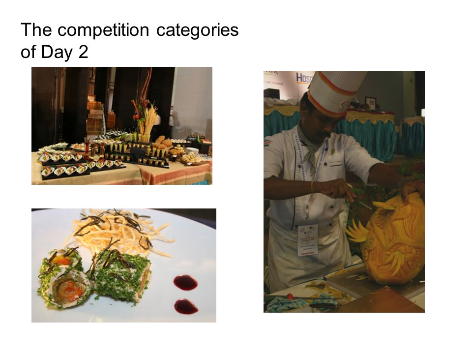 The competition categories of Day 2