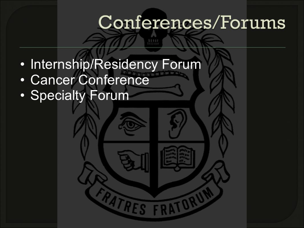Internship/Residency Forum Cancer Conference Specialty Forum