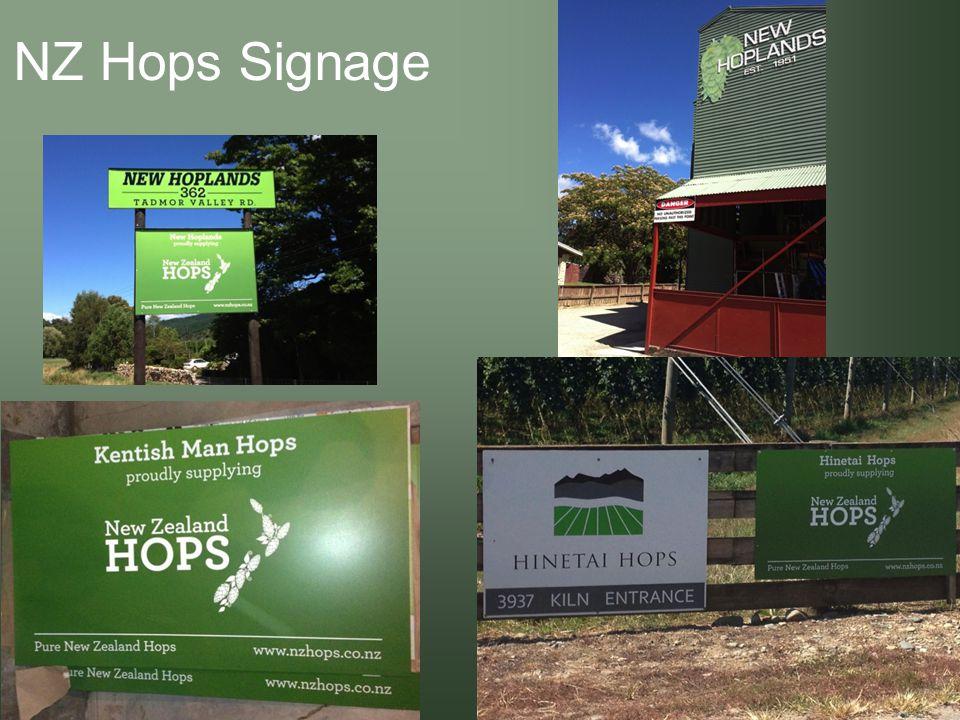 NZ Hops Signage