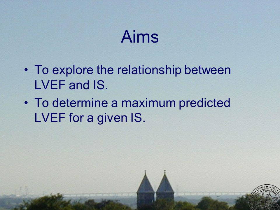 Aims To explore the relationship between LVEF and IS.