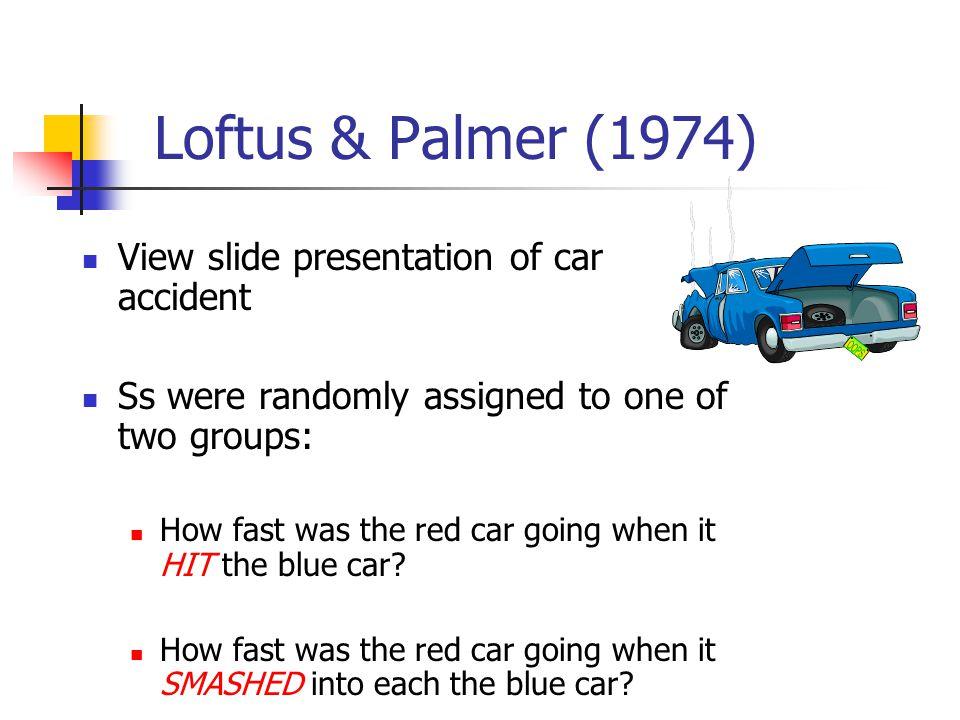 Standard Post-Event Misinformation Paradigm 1 2 3