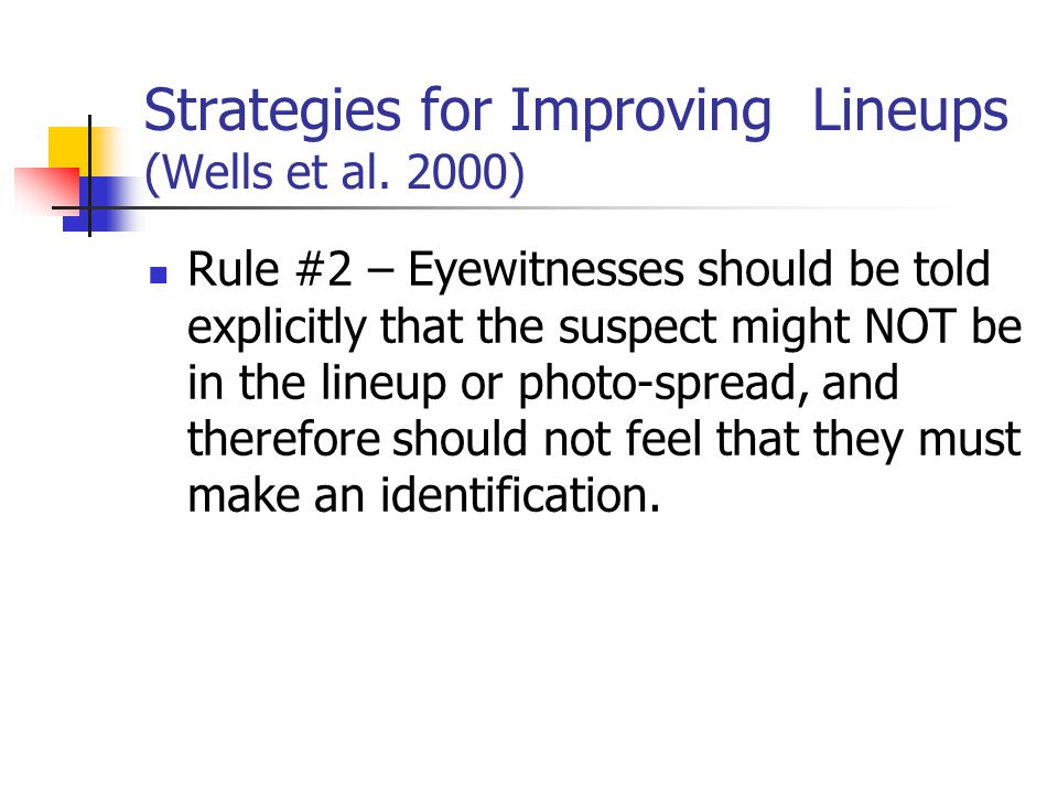 Strategies for Improving Lineups (Wells et al.