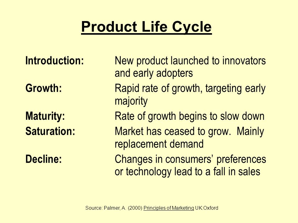 (Rogers 1962)Pattern of Adoption for a New Product Source: Palmer, A.