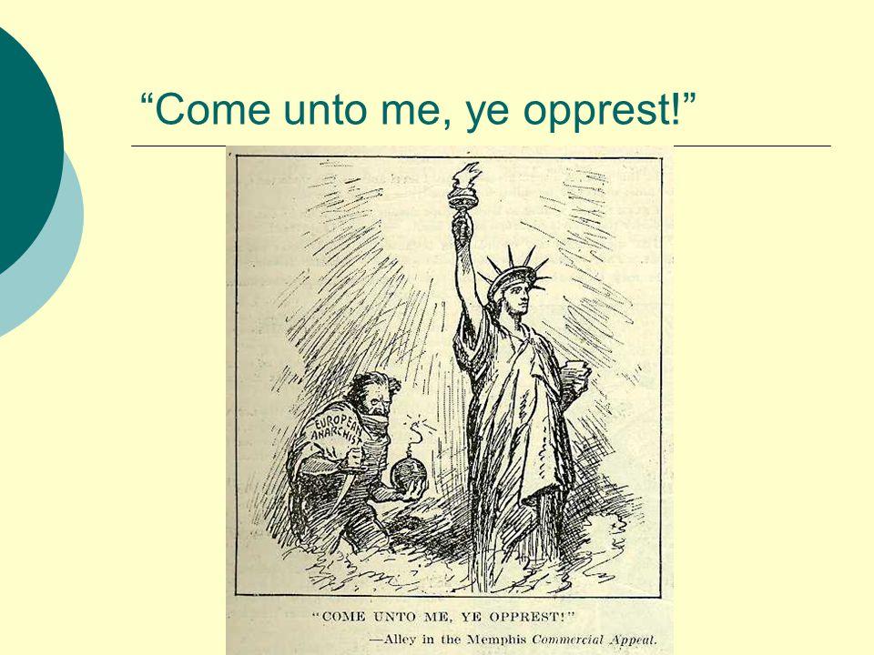 Come unto me, ye opprest!