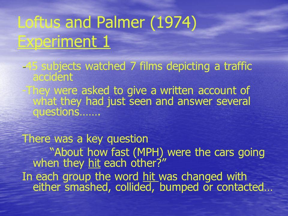 Harris (1973) In-class experiment… In-class experiment…