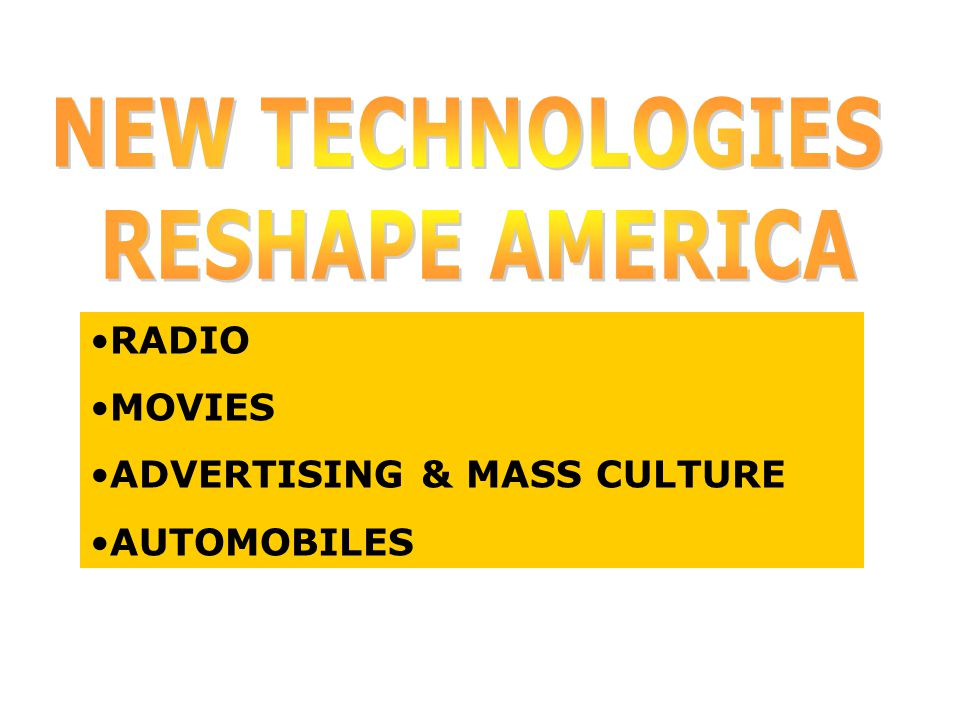 RADIO MOVIES ADVERTISING & MASS CULTURE AUTOMOBILES