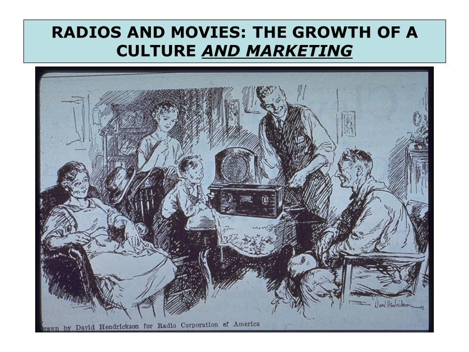 RADIOS AND MOVIES: THE GROWTH OF A CULTURE AND MARKETING