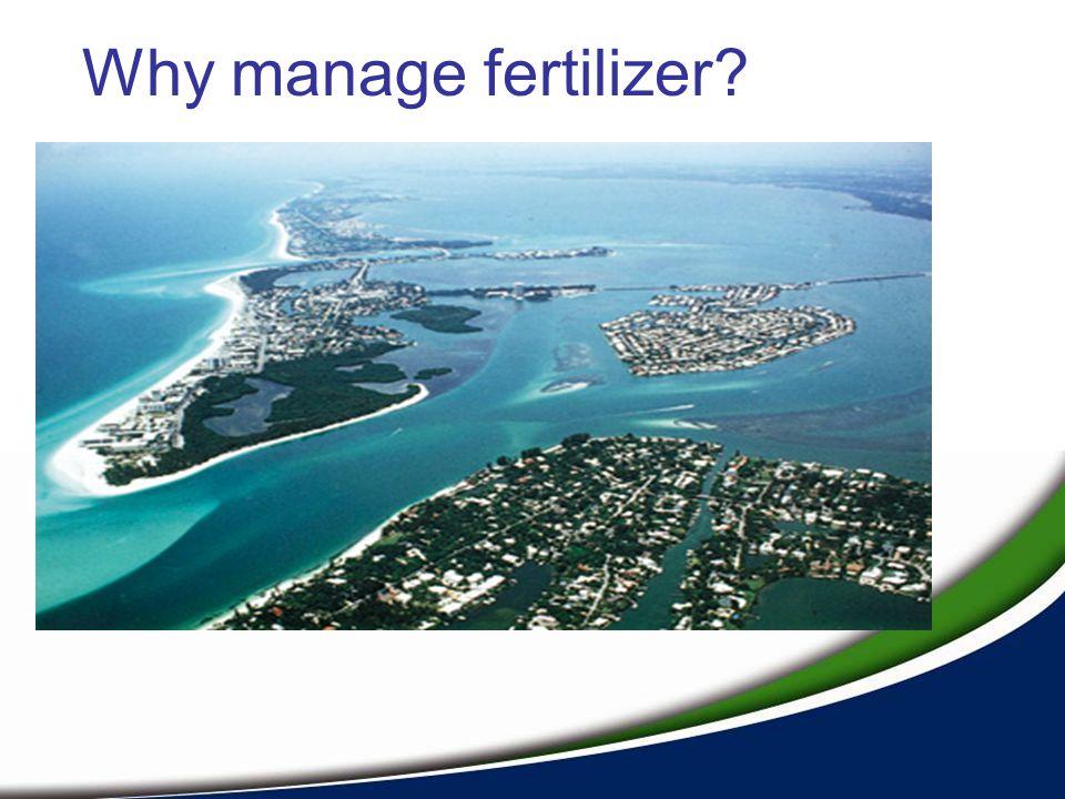 Why manage fertilizer