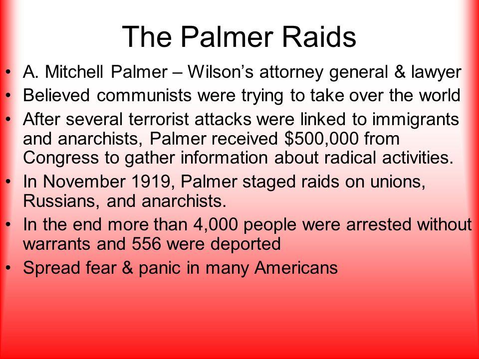 The Palmer Raids A.