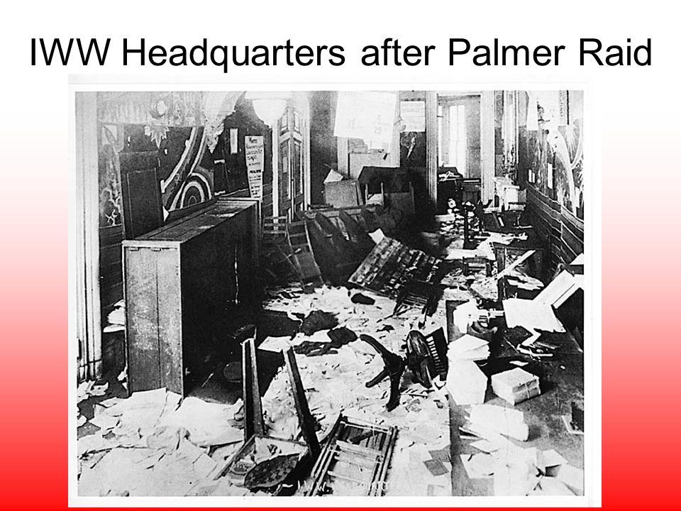 IWW Headquarters after Palmer Raid