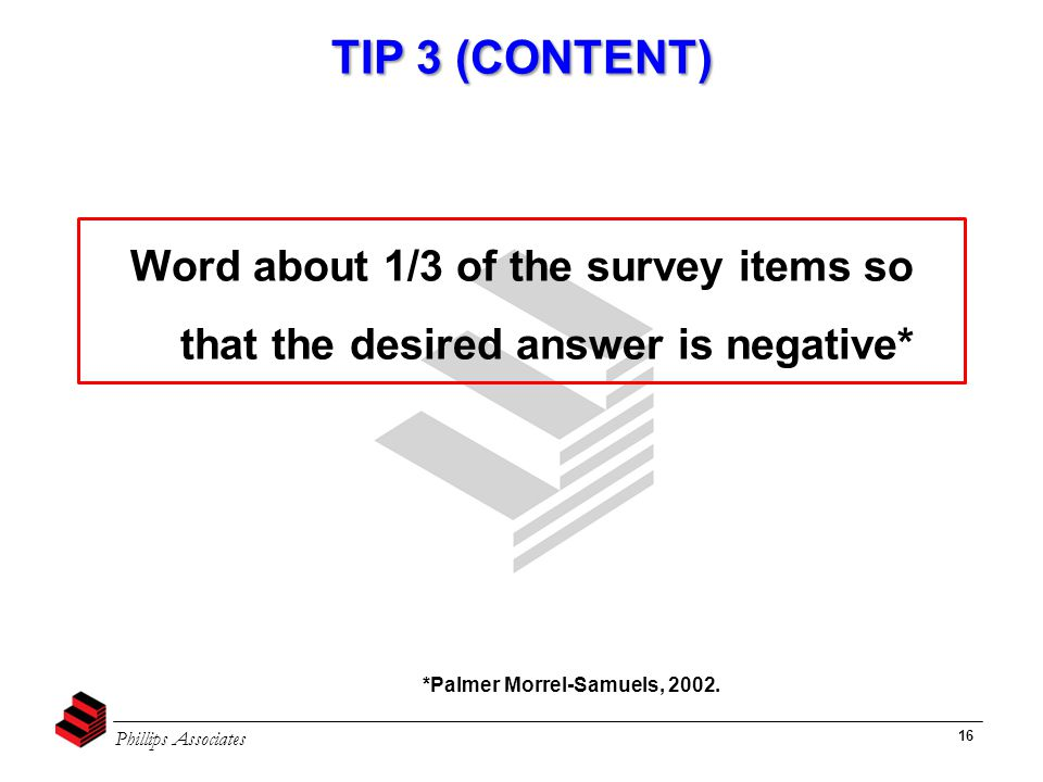 Phillips Associates 16 TIP 3 (CONTENT) *Palmer Morrel-Samuels, 2002.