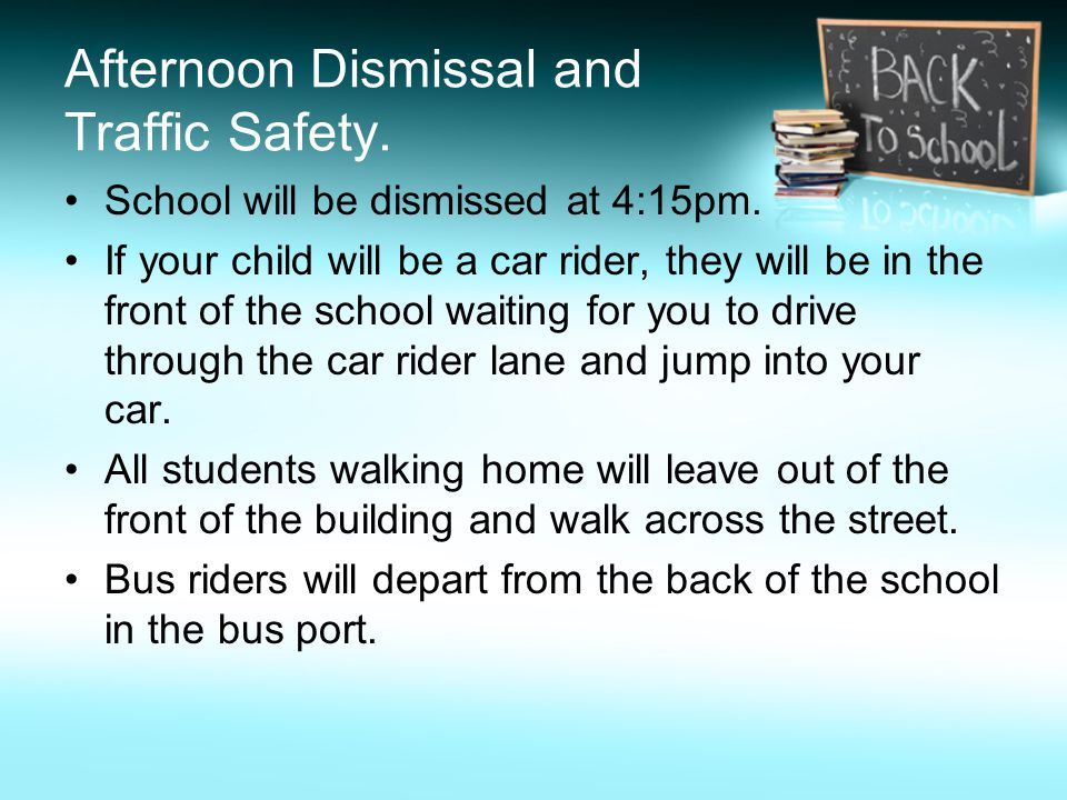 Riding a Different Bus Transportation may be provided for the purpose of child care or for a family emergency.