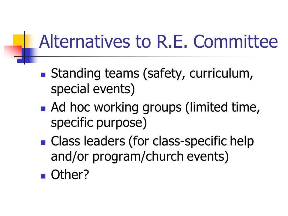 Alternatives to R.E.