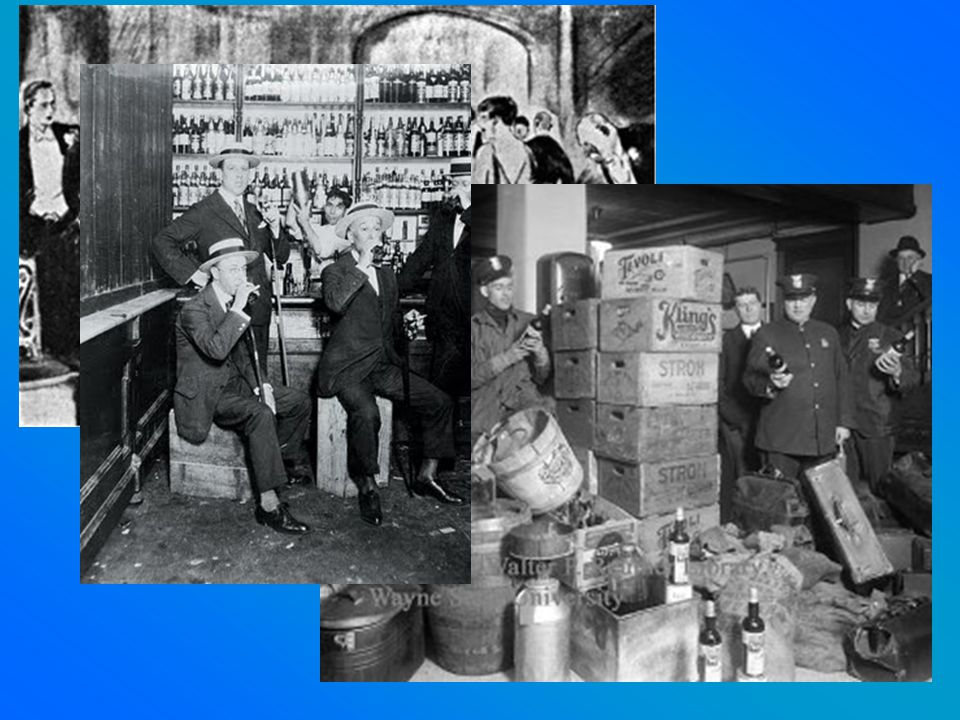 Gov't hires only 1,500 agents to enforce Prohibition. Ordinary people defied the law, many making bathtub gin at home. Churches could still use wine f