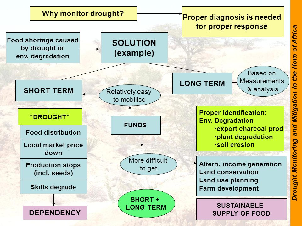 Drought Monitoring and Mitigation in the Horn of Africa SOLUTION (example) Proper identification: Env.