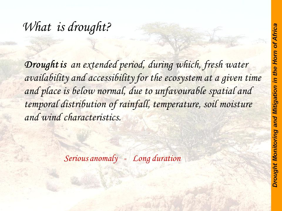 Drought Monitoring and Mitigation in the Horn of Africa Somalia Water and Land Information Management System Thank you for your attention