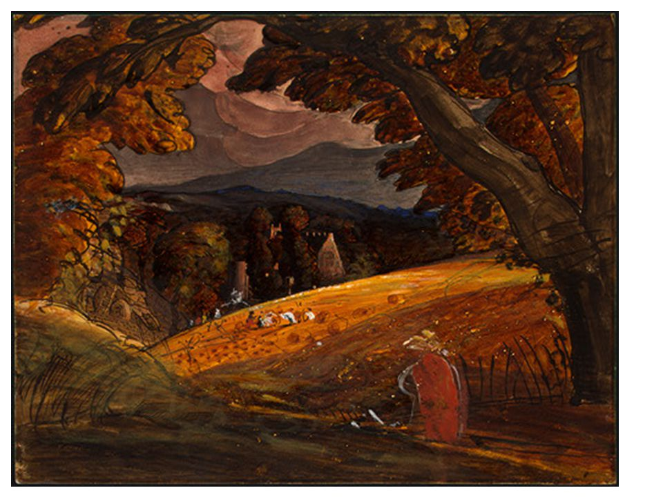 Samuel Palmer 1805-1881 THE MAGIC APPLE TREE c.1830 Palmer spent a decade in the Kent village of Shoreham, hoping that the clean country environment would improve his poor health.