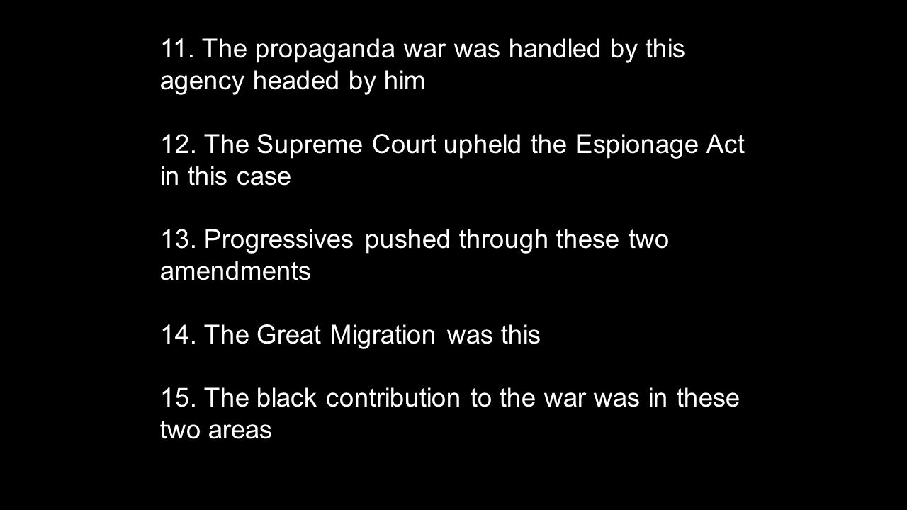 11.The propaganda war was handled by this agency headed by him 12.