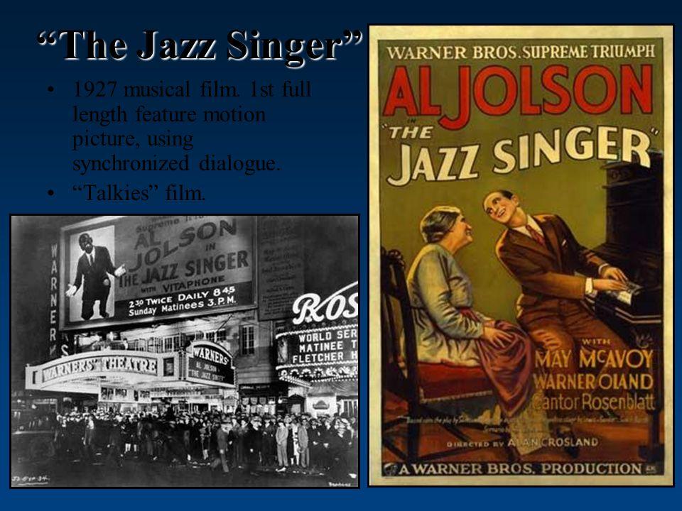 The Jazz Singer 1927 musical film.
