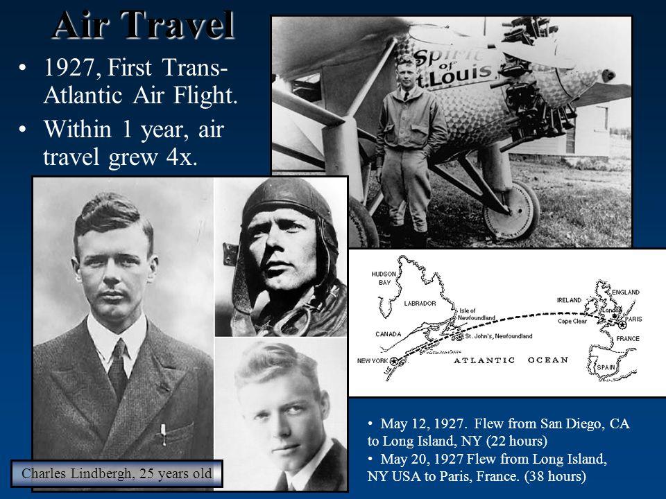 Air Travel 1927, First Trans- Atlantic Air Flight.