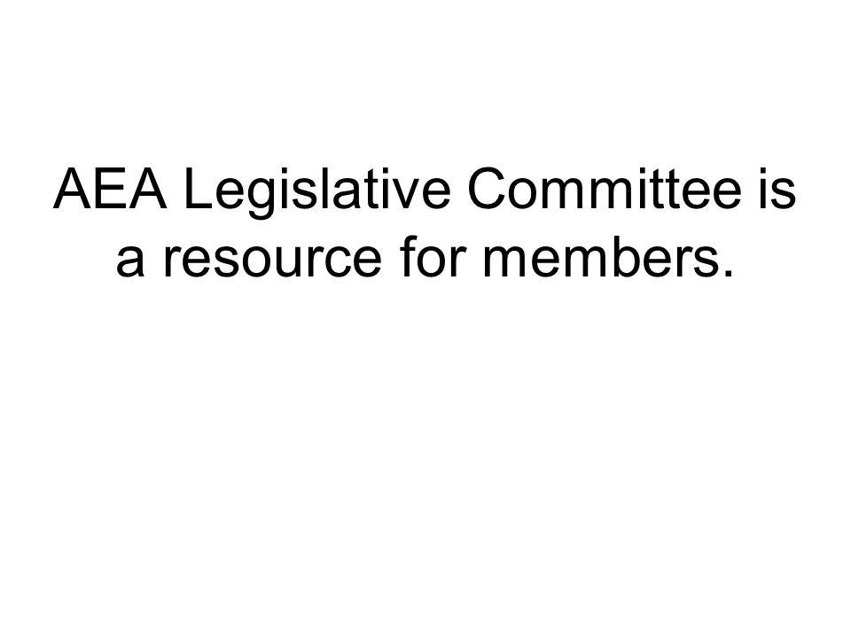 AEA Legislative Committee is a resource for members.