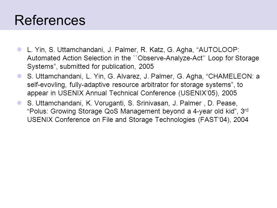 References L. Yin, S. Uttamchandani, J. Palmer, R.