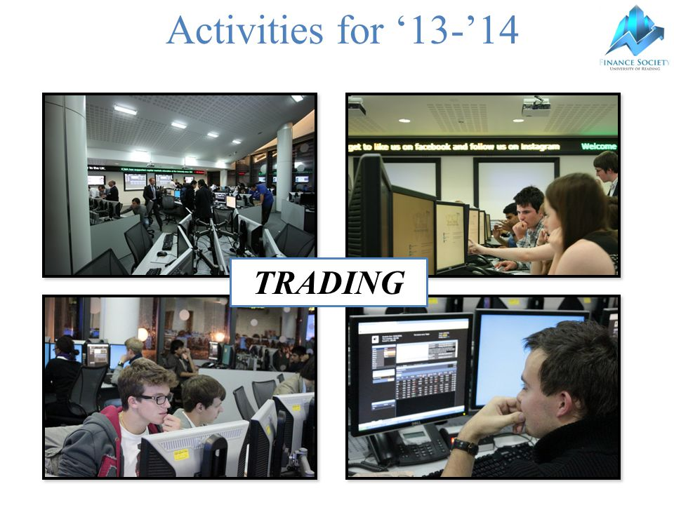 Activities for '13-'14 TRADING