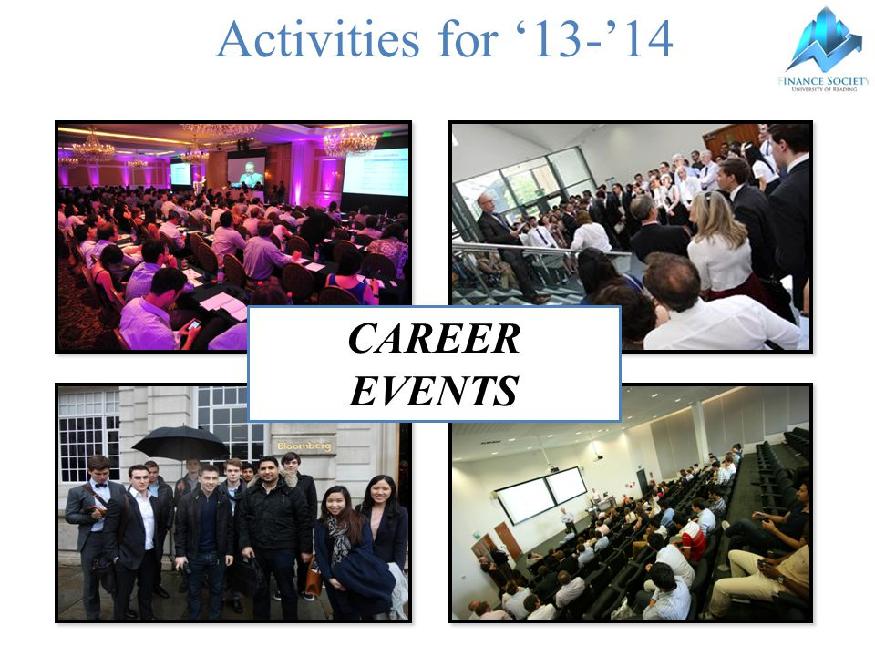 Activities for '13-'14 CAREER EVENTS