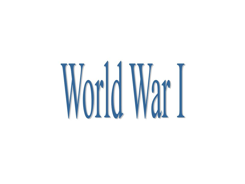 EQ What were the MAIN causes of the First World War.