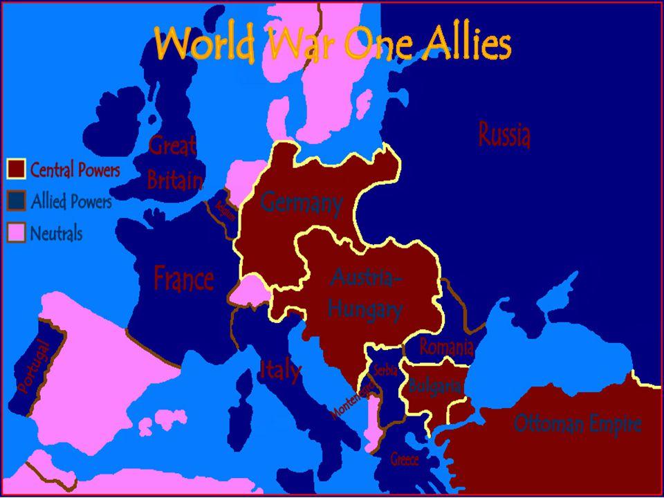Alliances War time: Central Powers: – Germany – Austria-Hungary – Ottoman Empire – Bulgaria