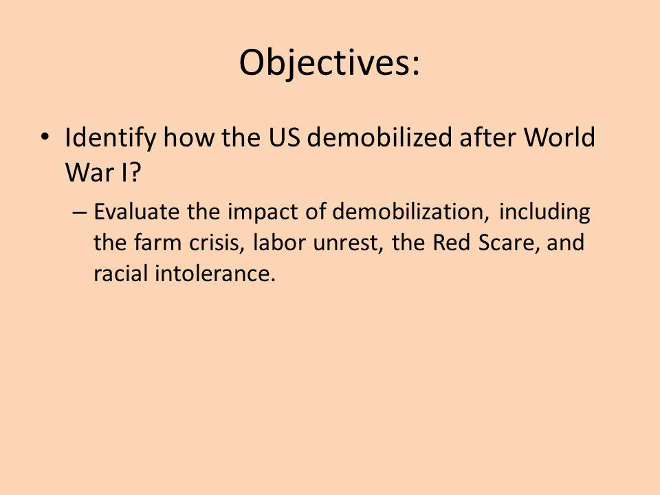 Post WWI & the Roaring Twenties Chapters 19 & 20