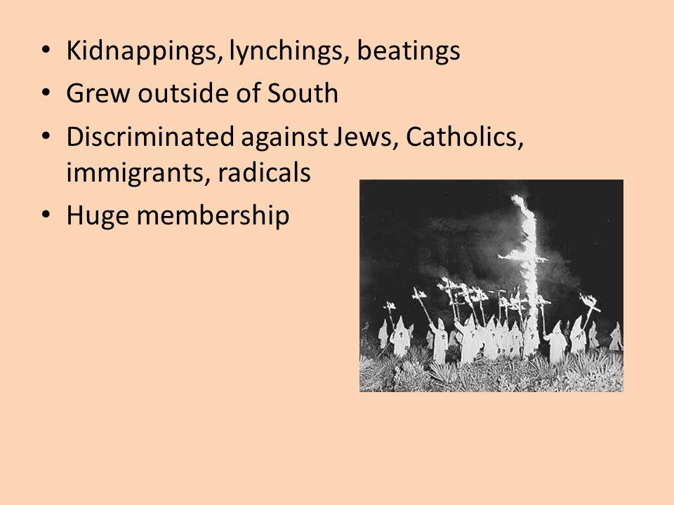 Return of the KKK: Officially dissolved after Reconstruction 1915, Stone Mtn, GA--Joseph Simmons re- establishes Klan