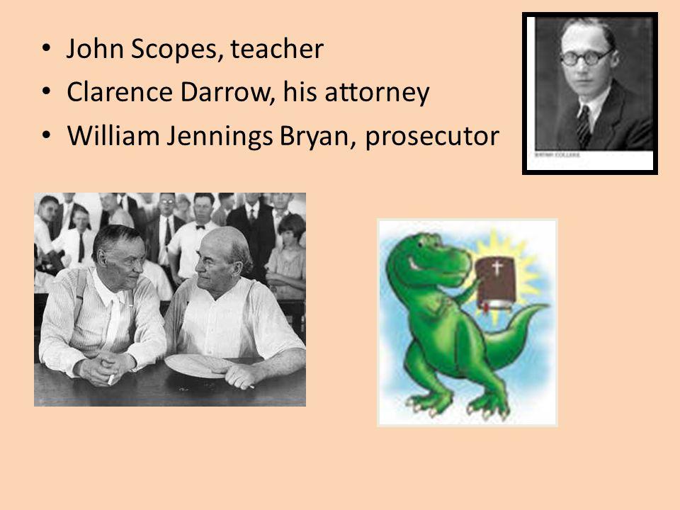 Scopes Trial :Evolution v. Creationism Monkey Trial Dayton, TN