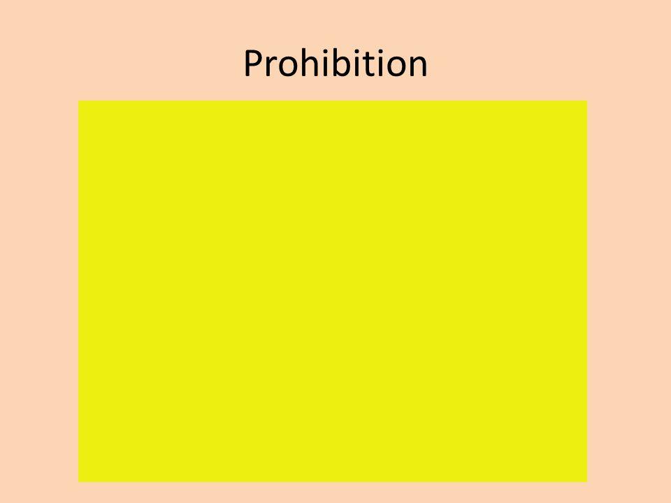 Prohibition Increased crime – Bootlegging – Speak easies