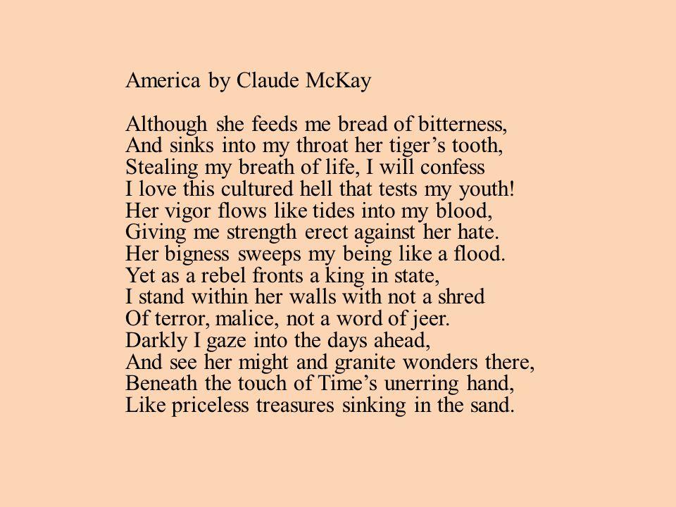 James Weldon Johnson Claude McKay