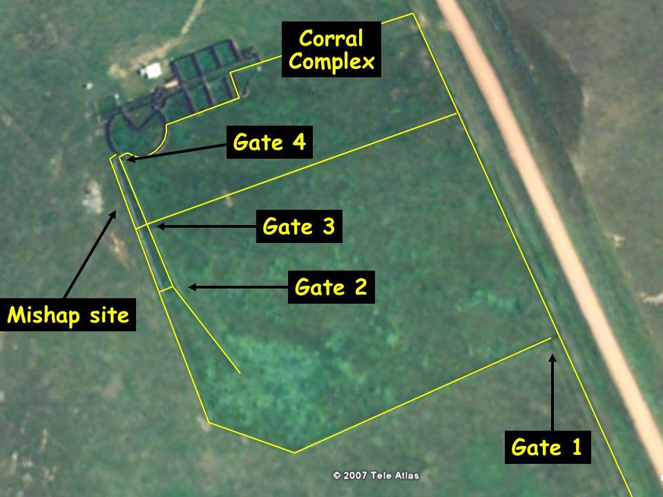 Corral Complex Gate 1 Mishap site Gate 2 Gate 3 Gate 4