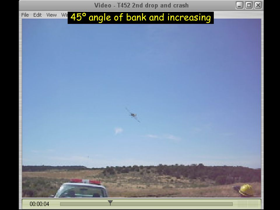 45º angle of bank and increasing
