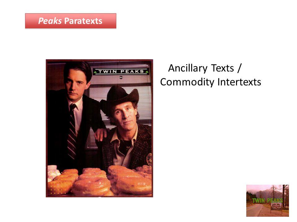Ancillary Texts / Commodity Intertexts Peaks Paratexts