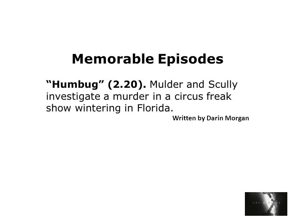 Memorable Episodes Humbug (2.20).