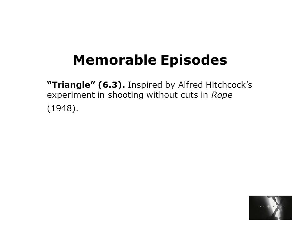 Memorable Episodes Triangle (6.3).