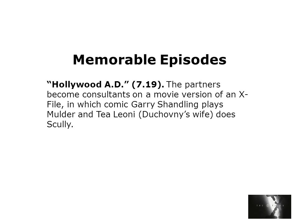 Memorable Episodes Hollywood A.D. (7.19).