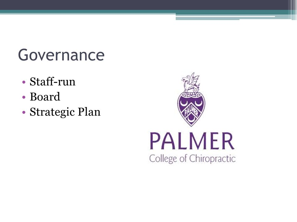 Governance Staff-run Board Strategic Plan