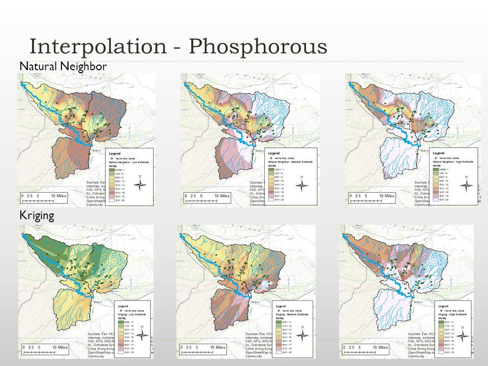 Interpolation - Phosphorous Natural Neighbor Kriging
