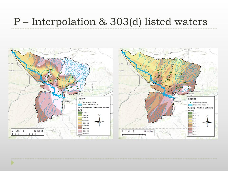 P – Interpolation & 303(d) listed waters