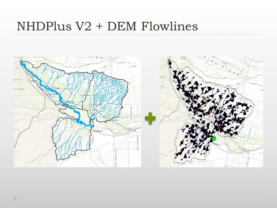 NHDPlus V2 + DEM Flowlines