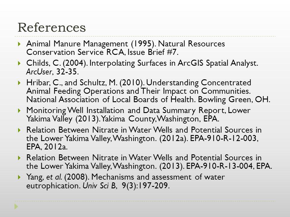 References  Animal Manure Management (1995).
