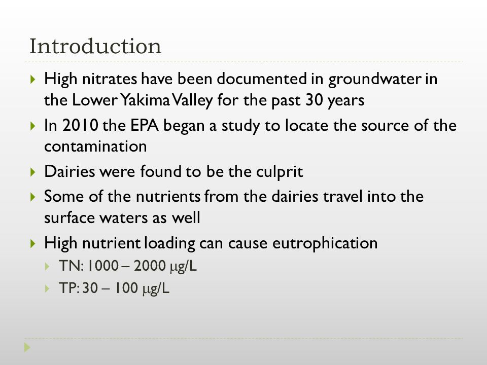 Data Sources DataSource Dairy Locations, 303(d) listed waters, HUC10, Stream Gages Washington State Department of Ecology Land CoverNational Land Cover Database Nitrogen and Phosphorous Pollution Data Tool Environmental Protection Agency NED30m DEMUSGS National Elevation Dataset NHDPlus V2Environmental Protection Agency