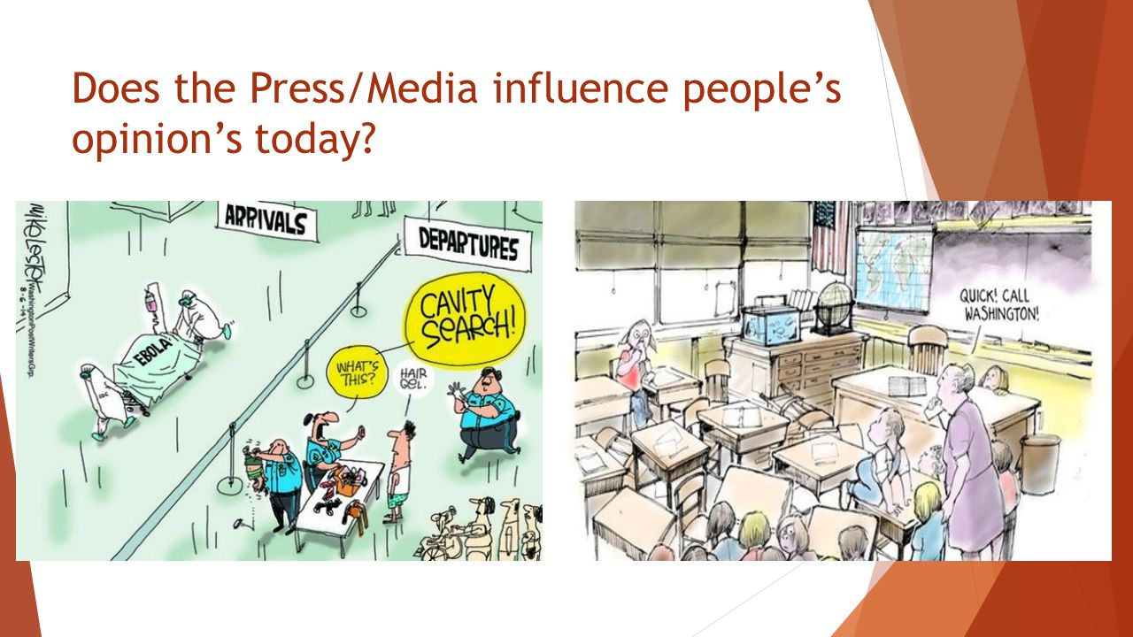 Does the Press/Media influence people's opinion's today