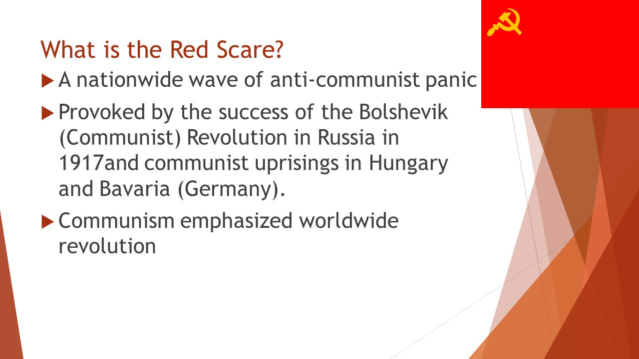 What is the Red Scare.